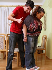 She is his little BBW beauty and she makes sure that his cock feels great in the fuck scene