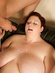 Carly is one cute and sexy BBW. Gifted in the art of deep throating, she loves having her 34J titties grabbed hard while choking back on some random d