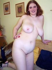 Hefty, breasty, brunette gets jizzed!