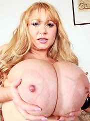 Samantha is without a doubt, one of the hottest sexy plumpers featured on this or any other site. This big bad mama has got world reknown 38G breasts
