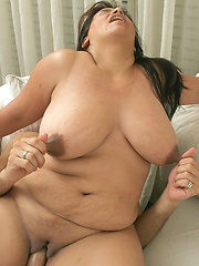 Fat Angie milking a cock like only fat girls can do